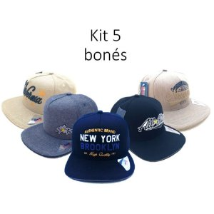 Kit 5 bonés Classic Hats