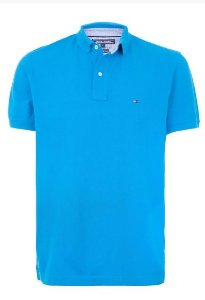 CAMISA POLO MARCA TOMMY HILFIGER AZUL