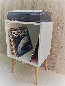 Mesa lateral para vinil branco tx