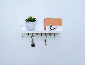 Porta Chaves e Cartas com prateleira