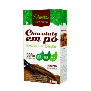 Chocolate em pó diet Stevita - Caixa com 12 unidades