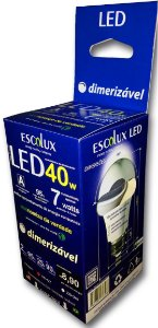 LAMPADA LED DIMERIZAVEL 9W 127V~ ESCOLUX