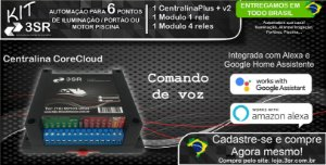CENTRAL CENTRALINA-CORE CLOUD KIT COM RELES 3SR