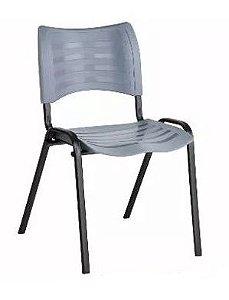 Cadeira Plast Cinza Empilhavel