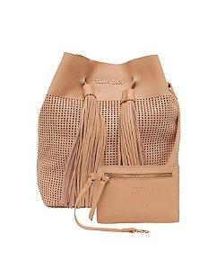 Bolsa Bucket Bag Ellus com Franja