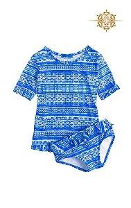 Camiseta Infantil de Manguinha Proteção UV 50 Dakar Salinas