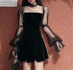 Vestido Frisado MANGA BUFANTE