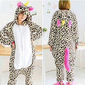 "Pijama Kigurumi de Unicórnio ""Oncinha"""