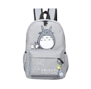 """Mochila Grande de Lona do """"Meu Amigo Totoro"""" - Várias Cores"""