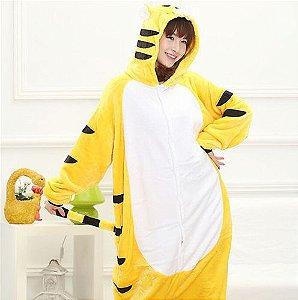 Pijama Kigurumi de Tigre Amarelo