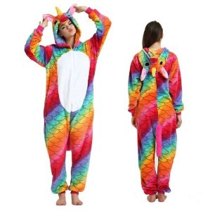 Pijama Kigurumi de Unicórnio Dragão