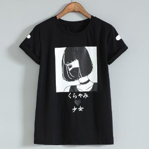 Camiseta ANIME GIRL - Duas Cores
