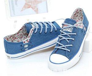 Tênis Jeans FLORAL