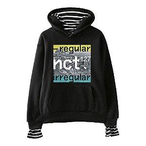 93de525234c56 Moletom Hoodie Duplo NCT 127 - Regular   Irregular - Várias Cores