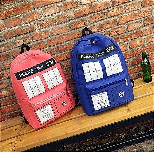 Mochila Grande Dr. Who TARDIS - Várias Cores
