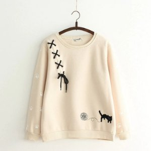 Moletom Kawaii CAT STRING - Três Cores