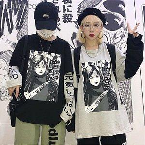 Camiseta Manga Longa Dupla ANIME LICHIA - Duas Cores