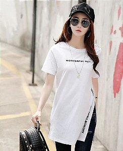 Camiseta Longline WONDERFUL DAY - Duas Cores