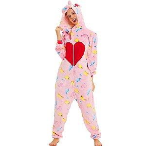 Pijama Kigurumi de CORAÇÃO DE UNICÓRNIO
