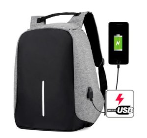 Mochila de Oxford LOCKIT (Anti-furto) - Com saída USB - Várias Cores