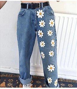 Calça Jeans MARGARIDAS