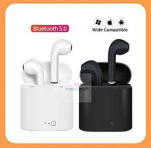 Fone de Ouvido i7s TWS Bluetooth 5.0 - Duas Cores