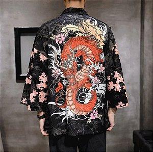 Kimono Nuvem e Dragão