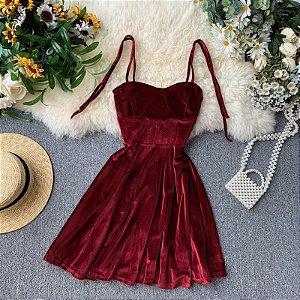 Vestido de Alcinha VELVET - Três Cores