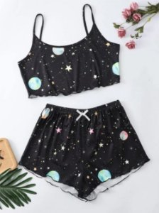 Conjunto Cropped e Shortinho BABY DOLL GALAXY - Duas Cores