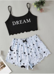 Conjunto Cropped e Shortinho BABY DOLL DREAM - Várias Cores
