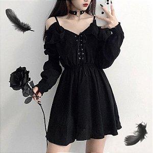 Vestido Manga Bufante GÓTICO