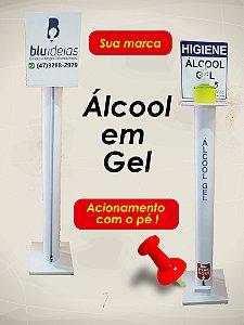 Dispenser Álcool Gel - Com Acionamento por Pedal