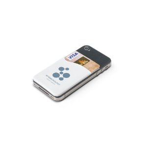 Porta cartões para celular. PVC.