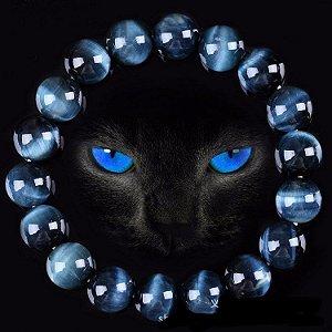 Pulseira Olho de Tigre Azul - Proteção e Alegria