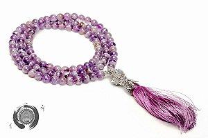 Japamala Purple Flame Aura 108 contas