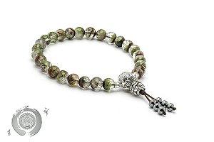 Japamala Pulseira Bracelete Cristal Fantasma Clear 27 contas