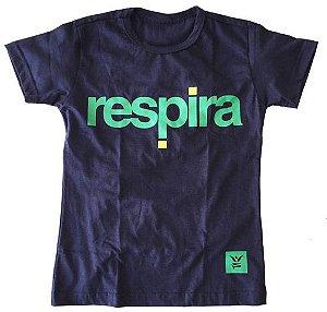 Camiseta Respira Baby Look - Edição Copa do Mundo - Brasil