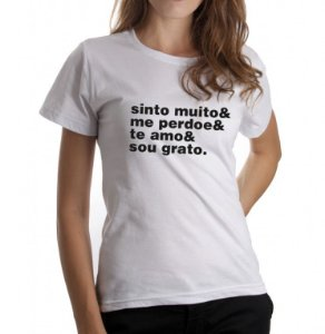Camiseta Feminina Ho'Oponopono - Branca