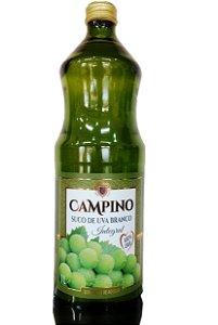 Suco de Uva Branco Campino 1 Litro - Integral e 0% açúcar