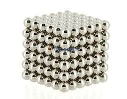 BuckyBola Magnetica  216pcs (Silver) 5mm