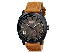 RELÓGIO CURREN Unisex Stylish Quartz Analog Watch with Leather Strap (Grey) M.8139
