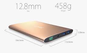 Carregador VINSIC 15000mAh Dual SMART USB Port Power Bank -  iPhone, iPad, iPod, Cell Phones, Tablets (Golden)