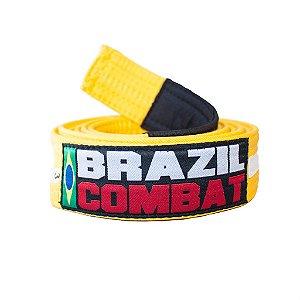 Faixa Jiu-Jitsu Amarela com Branco Brazil Combat