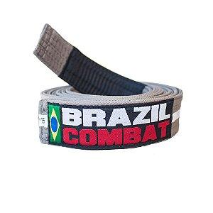 Faixa Jiu-Jitsu Cinza com Branco Brazil Combat