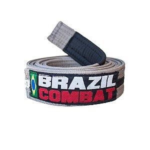 Faixa Jiu-Jitsu Cinza com Preto Brazil Combat