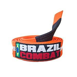 Faixa Jiu-Jitsu Laranja com Branco Brazil Combat