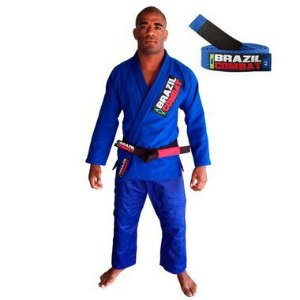 Kimono Jiu-JItsu Starter Azul com Faixa Azul Brazil Combat