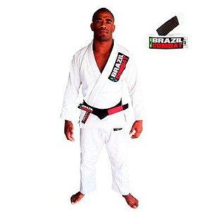 Kimono Jiu-JItsu Starter Branco com Faixa Branca Brazil Combat