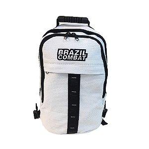 Mochila Esportiva Kimono Branca e Preto Small Brazil Combat