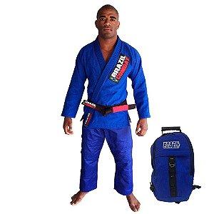 Kimono Starter Azul Mais Mochila Kimono Azul Brazil Combat